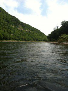rafting on the Delaware River, near The Hawks Nest