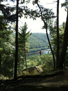 zip lines on the Delaware River