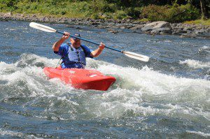 Dave in the rapids
