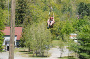 landing deck at Kittatinnys Dual Racing Ziplines
