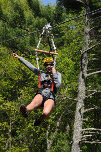 Zip through then above the tree tops